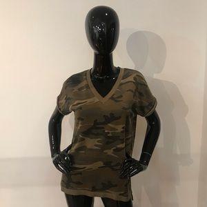 Alternative Apparel camo v neck sweater tee